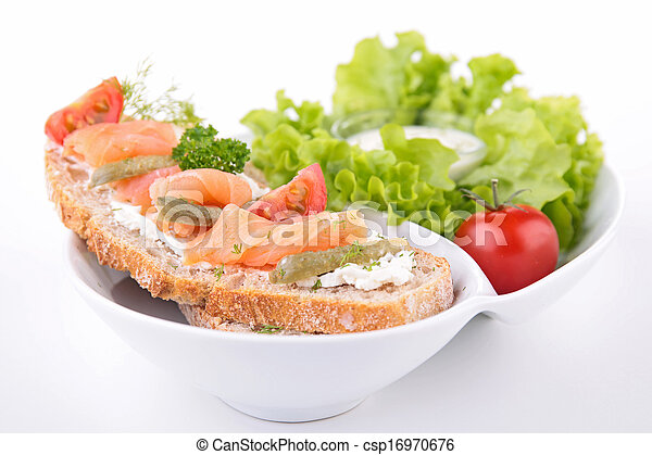 bread with salmon - csp16970676