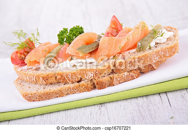 bread with salmon - csp16707221