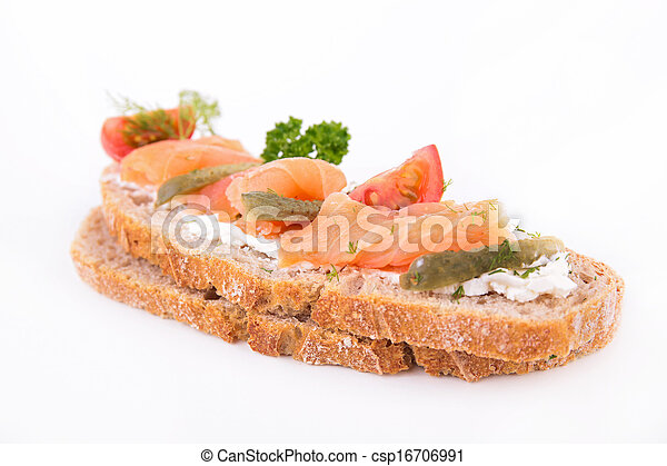 bread with salmon - csp16706991