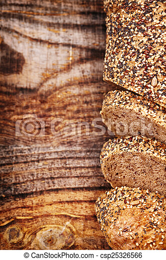Bread with seeds - csp25326566