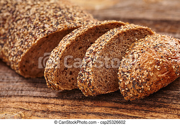 Bread with seeds - csp25326602