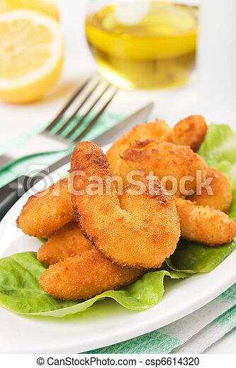 Breaded shrimp snack - csp6614320