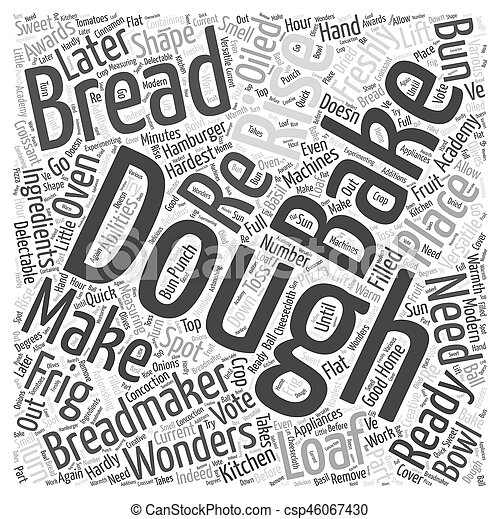 breadmakers Word Cloud Concept - csp46067430
