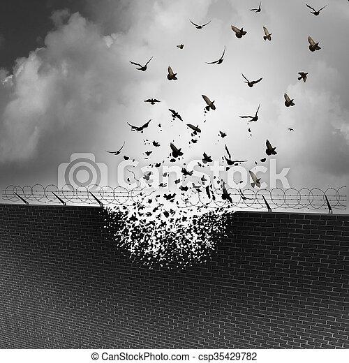 Break Down Walls - csp35429782