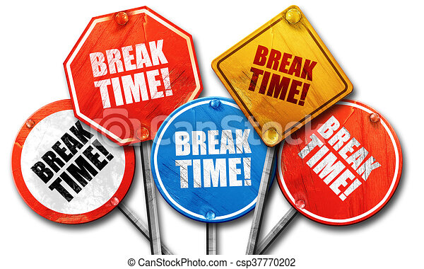 Break Time 3D Rendering Rough Street Sign Collection