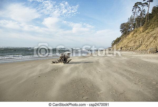 Breakage near the raging sea - csp2470091