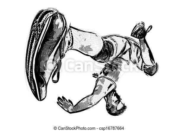 breakdancer illustration 2 - csp16787664