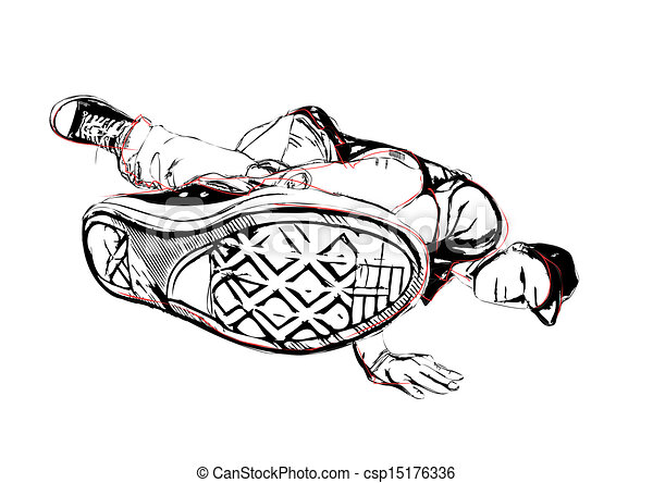 breakdancer illustration - csp15176336