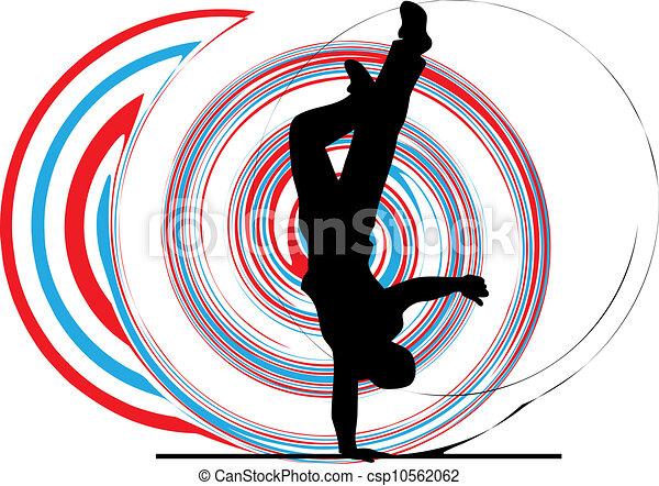 breakdancer, stander, dancing, hand - csp10562062