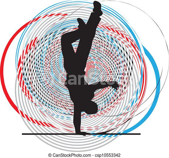 breakdancer, stander, dancing, hand - csp10553342
