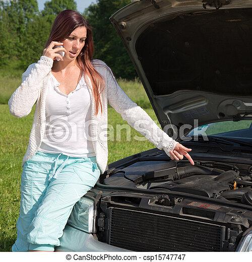Breakdown on a car - csp15747747
