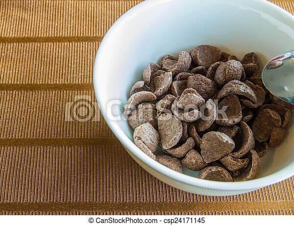 Breakfast Chocolate Cornflakes Cereal Bowl - csp24171145