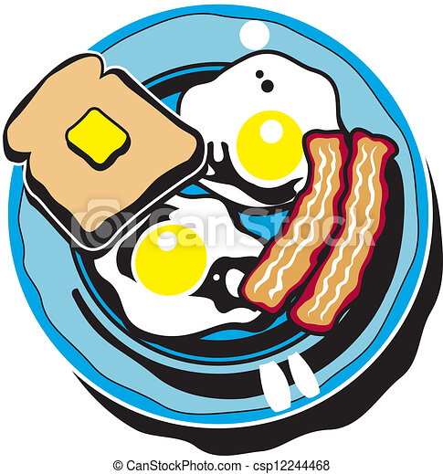breakfast clip art of bacon eggs and toast clip art vector search rh canstockphoto com free clipart breakfast items free clipart breakfast menu