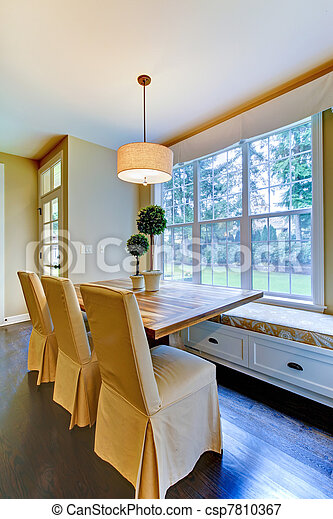 Breakfast Dining Rom Table Near The Luxury Kitchen Window Seat With Breakfast Table Near Kitchen Canstock