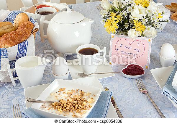 Breakfast for mother - csp6054306