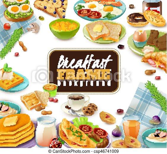 Breakfast Frame Background - csp46741009