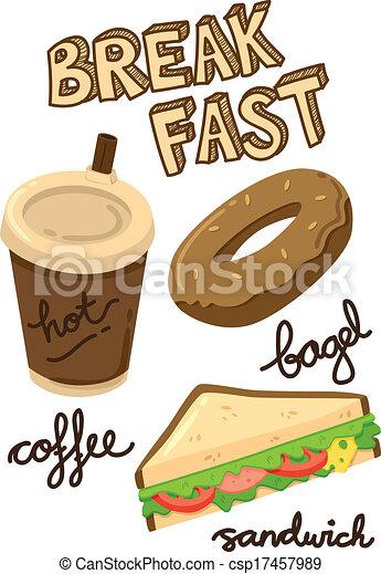 breakfast icon doodle - csp17457989