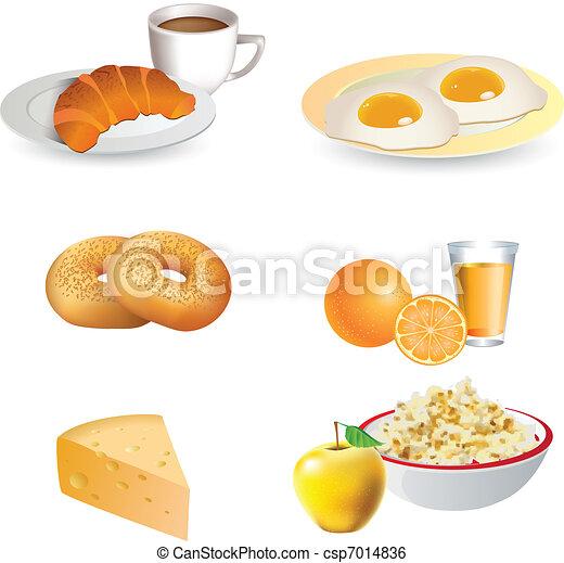 Breakfast icon set  - csp7014836