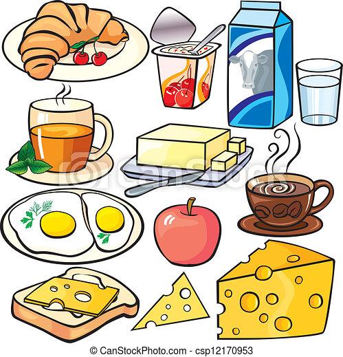 Breakfast icons set - csp12170953