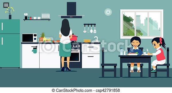 Breakfast in the kitchen - csp42791858