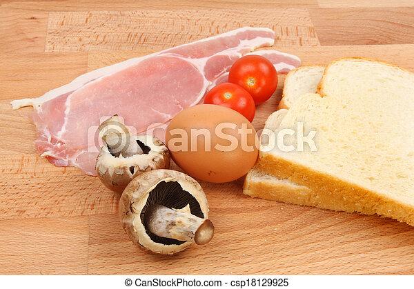 Breakfast ingredients - csp18129925