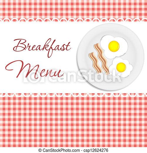 Breakfast menu  vector illustration - csp12624276