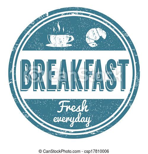 Breakfast stamp - csp17810006
