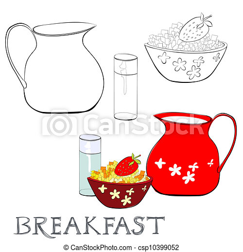 Breakfast with corn flakes - csp10399052