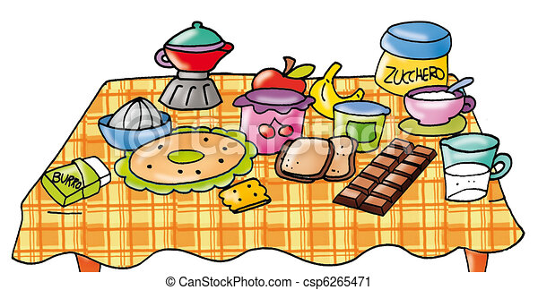 breakfast with table set coffee bread cup coffee sugar rh canstockphoto com clipart breakfast pictures clip art breakfast free