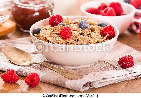 Breakfast with wholegrain cereals. - csp49344041