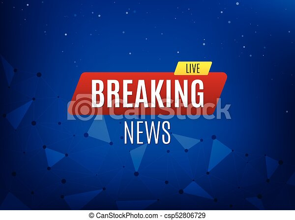 Breaking News Live Banner Business Or Social Info