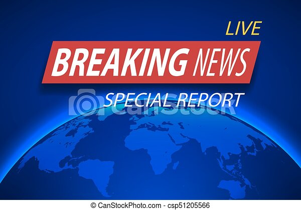Breaking news live on planet background business or technology breaking news live on planet background business or technology concept with world map tv news gumiabroncs Images