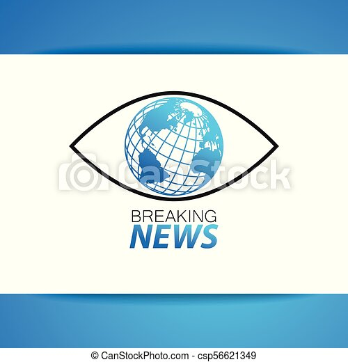 Breaking news logo template. Latest news label. breaking news live ...