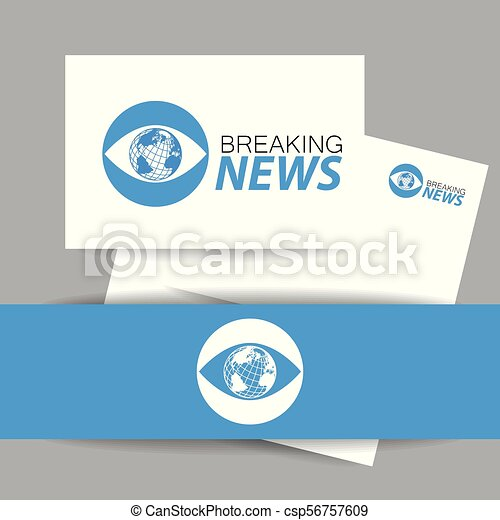 Breaking news logo template. Breaking news live conceptual logo ...