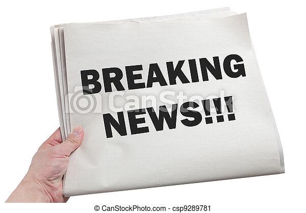 Breaking News - csp9289781