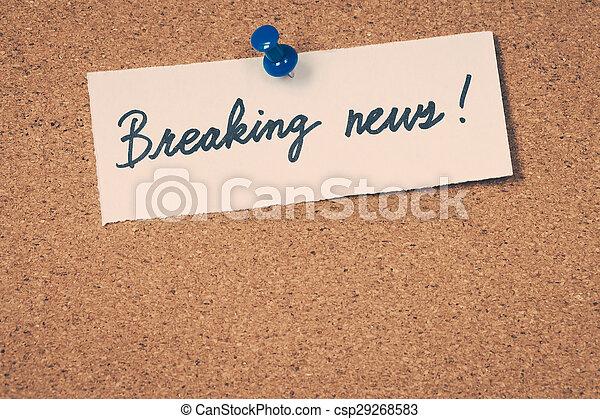 Breaking news - csp29268583