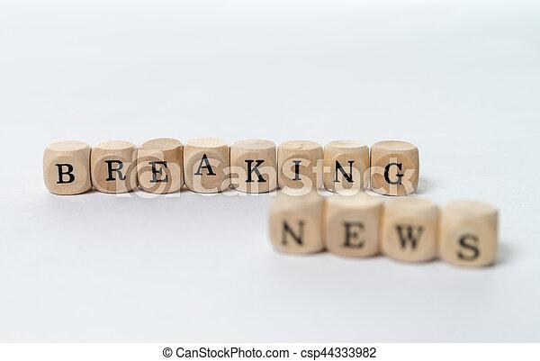 Breaking News - csp44333982