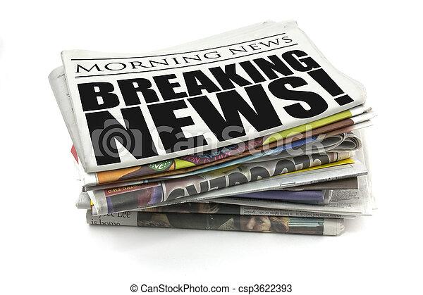breaking news - csp3622393