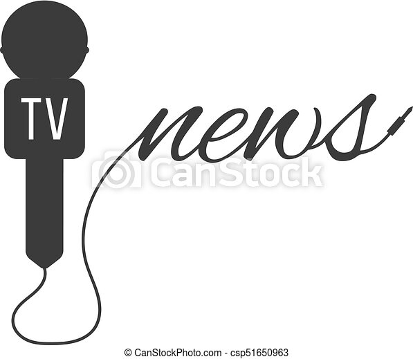 Breaking News With Black Microphone Concept Of Global Clip Art Rh Canstockphoto Ie