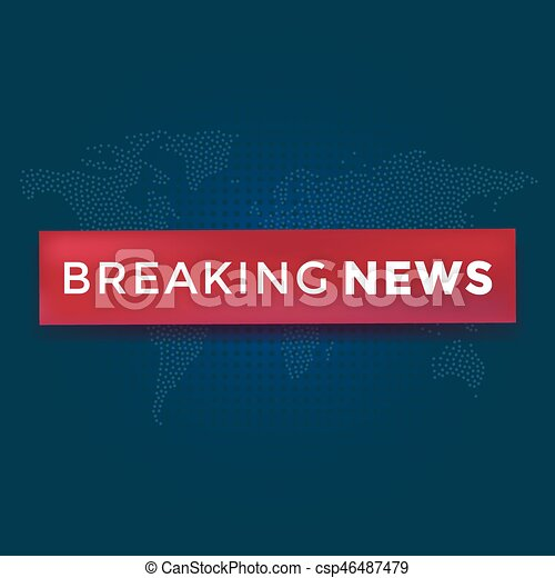 Breaking news with red ribbon on dotted world map background news breaking news with red ribbon on dotted world map background news background vector illustration gumiabroncs Images