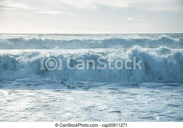 Breaking ocean waves - csp20811271