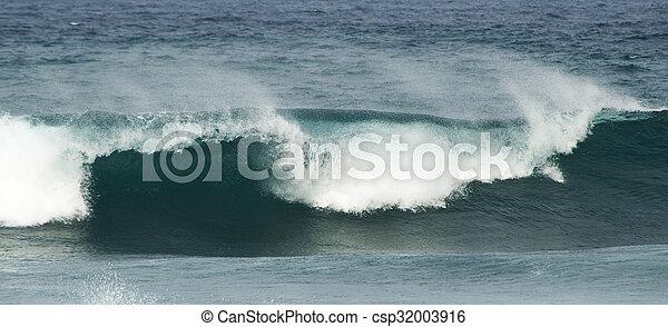 breaking ocean waves - csp32003916