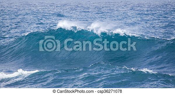 breaking ocean waves - csp36271078