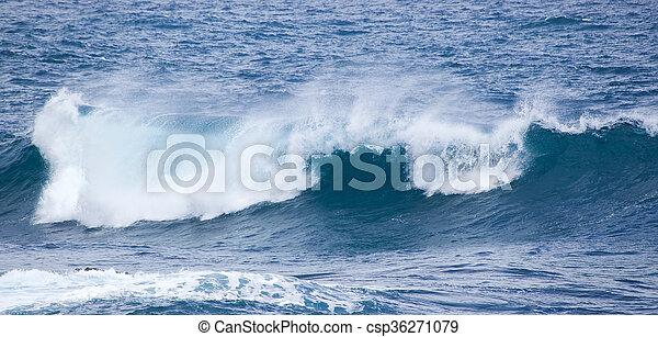 breaking ocean waves - csp36271079