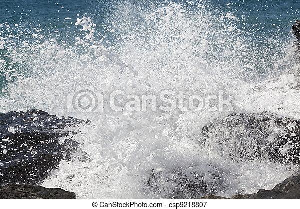 Breaking ocean waves - csp9218807