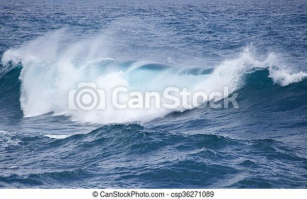 breaking ocean waves - csp36271089