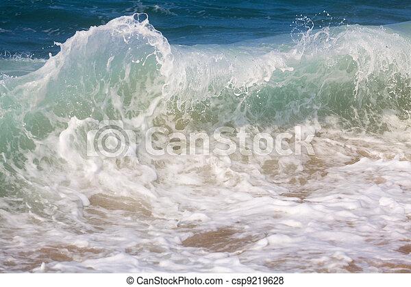 Breaking ocean waves - csp9219628