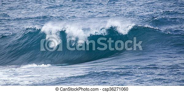 breaking ocean waves - csp36271060