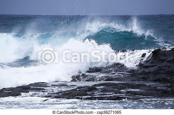 breaking ocean waves - csp36271065
