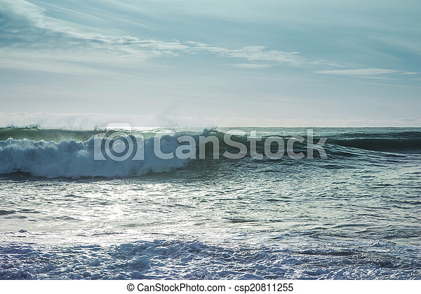 Breaking ocean waves - csp20811255